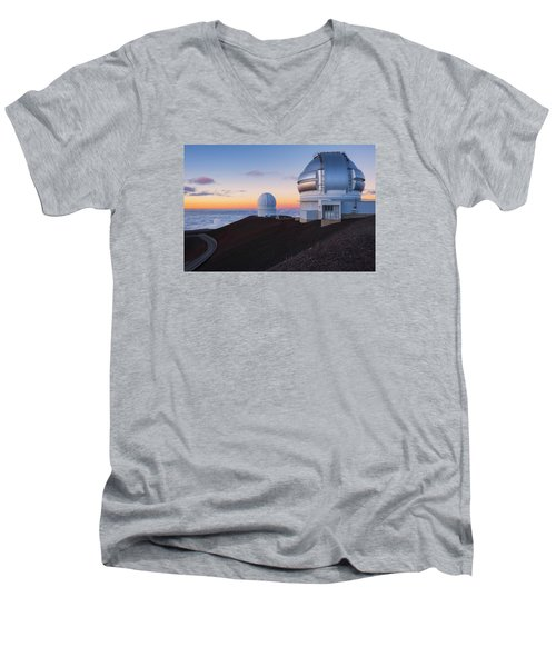 Men's V-Neck T-Shirt featuring the photograph In Search Of Gemini by Ryan Manuel