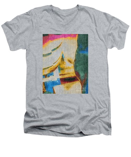 Men's V-Neck T-Shirt featuring the photograph In/still by William Wyckoff