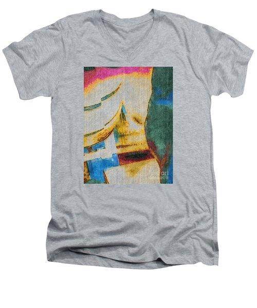 In/still Men's V-Neck T-Shirt by William Wyckoff
