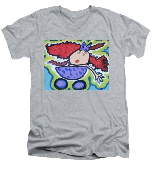 In The Baby Carriage Men's V-Neck T-Shirt by Artists With Autism Inc