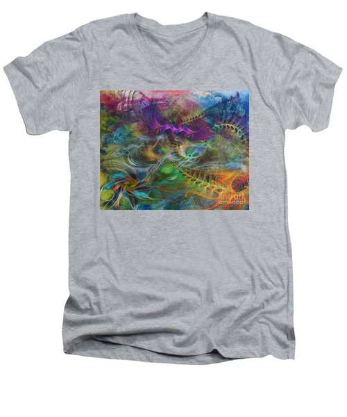 In The Beginning Men's V-Neck T-Shirt by John Robert Beck