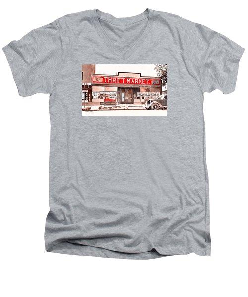 In The Beginning Men's V-Neck T-Shirt by LeAnne Sowa