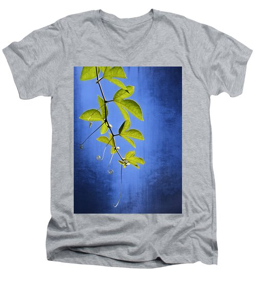 Men's V-Neck T-Shirt featuring the photograph In The Blue by Carolyn Marshall