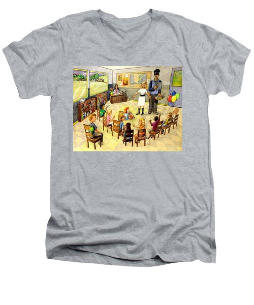 In The Classroom Men's V-Neck T-Shirt
