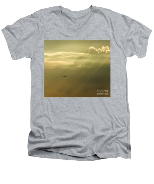 In The Clouds  Men's V-Neck T-Shirt by Christy Ricafrente