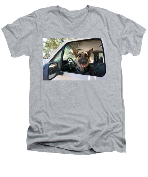 In The Driver's Seat  Men's V-Neck T-Shirt