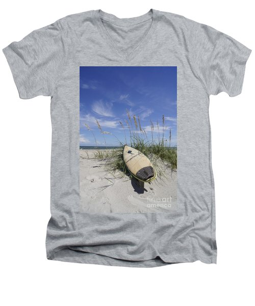 In The Dunes Men's V-Neck T-Shirt by Benanne Stiens