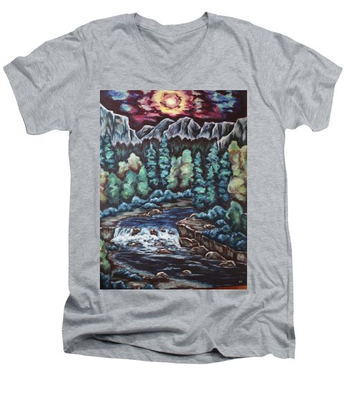 In The Land Of Dreams Men's V-Neck T-Shirt by Cheryl Pettigrew