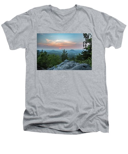 In The Land Of Mesas Men's V-Neck T-Shirt by Andreas Levi