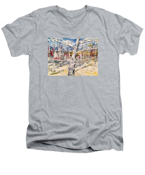 In The Middle Men's V-Neck T-Shirt