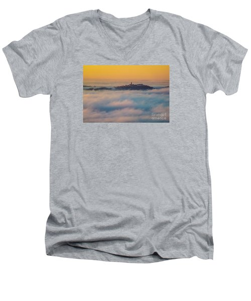 In The Mist 3 Men's V-Neck T-Shirt by Jean Bernard Roussilhe