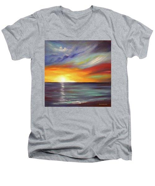 In The Moment Square Sunset Men's V-Neck T-Shirt
