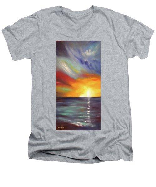 In The Moment - Vertical Sunset Men's V-Neck T-Shirt