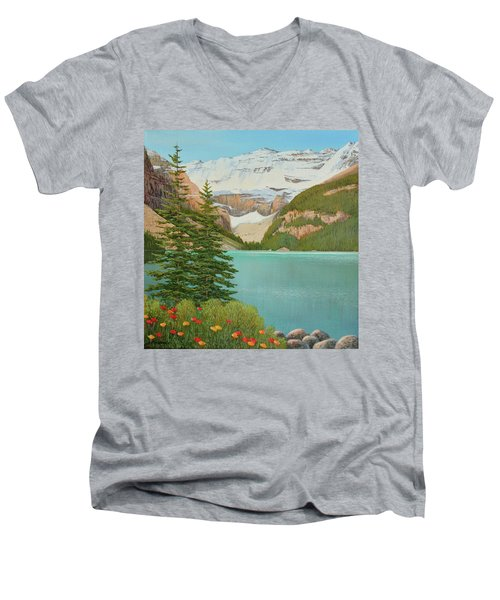 In The Mountain Air Men's V-Neck T-Shirt