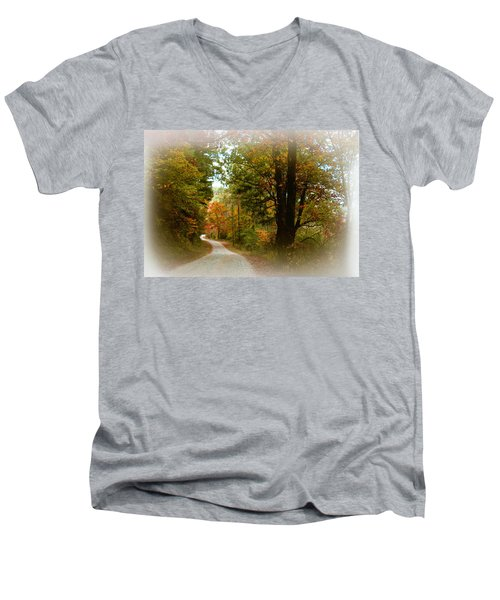 In The Mountains Of Georgia Men's V-Neck T-Shirt by Sharon Batdorf