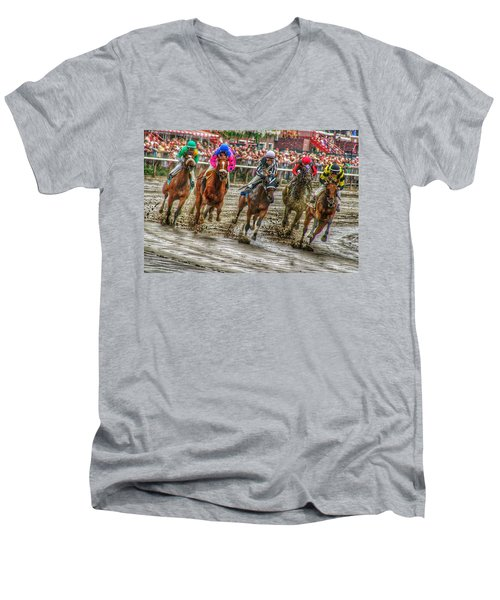 In The Mud Men's V-Neck T-Shirt
