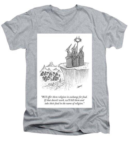 In The Name Of Religion Men's V-Neck T-Shirt