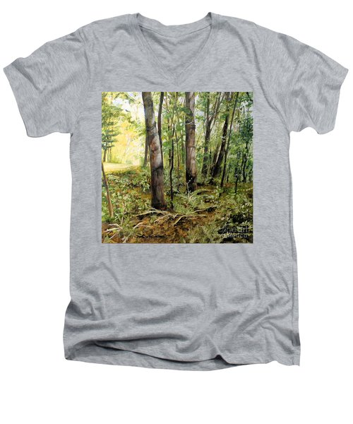 In The Shaded Forest  Men's V-Neck T-Shirt
