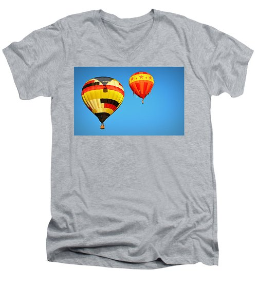Men's V-Neck T-Shirt featuring the photograph In The Shadow by AJ Schibig