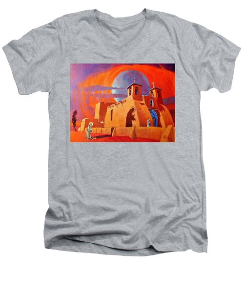 In The Shadow Of St. Francis Men's V-Neck T-Shirt