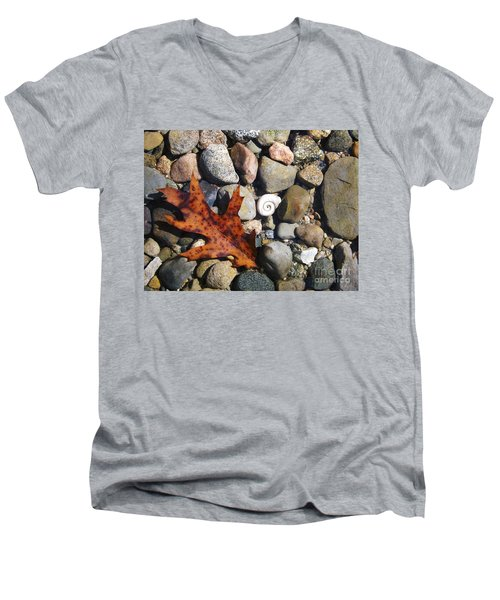 In The Shallows Men's V-Neck T-Shirt by Gerald Strine