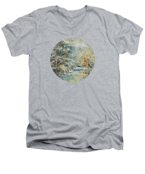 In The Snowy Silence Men's V-Neck T-Shirt