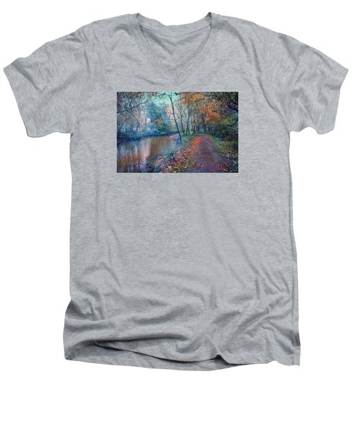 Men's V-Neck T-Shirt featuring the photograph In The Stillness Of The Morning by John Rivera