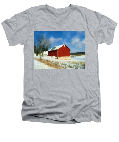 In The Throes Of Winter Men's V-Neck T-Shirt by Sandy MacGowan