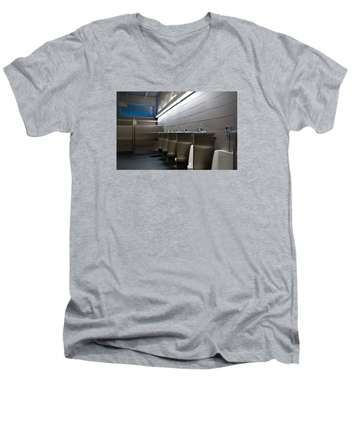 Men's V-Neck T-Shirt featuring the photograph In The Toilet by Bob Pardue