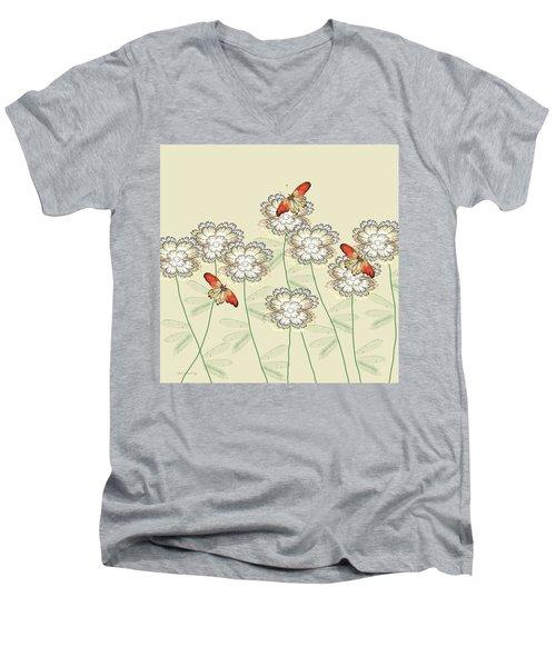 Incendia Flower Garden Men's V-Neck T-Shirt by Rosalie Scanlon