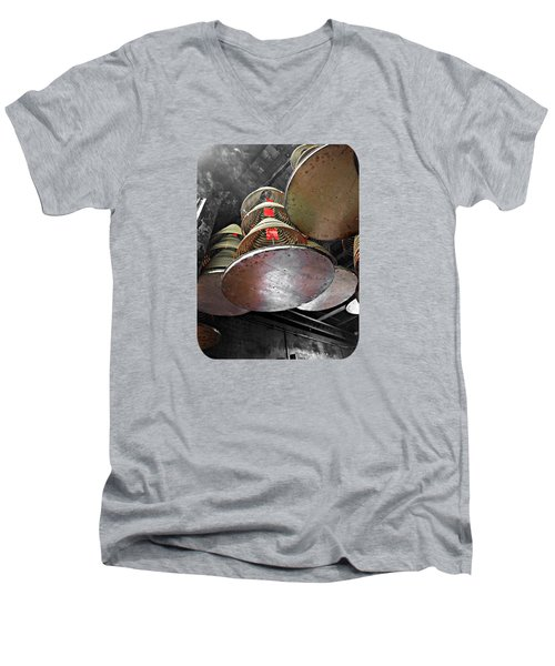 Incense Trays Men's V-Neck T-Shirt by Ethna Gillespie