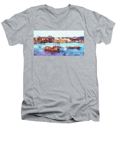 Inchon Harbor Men's V-Neck T-Shirt