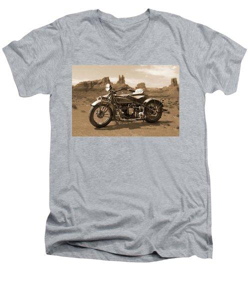 Indian 4 Sidecar Men's V-Neck T-Shirt