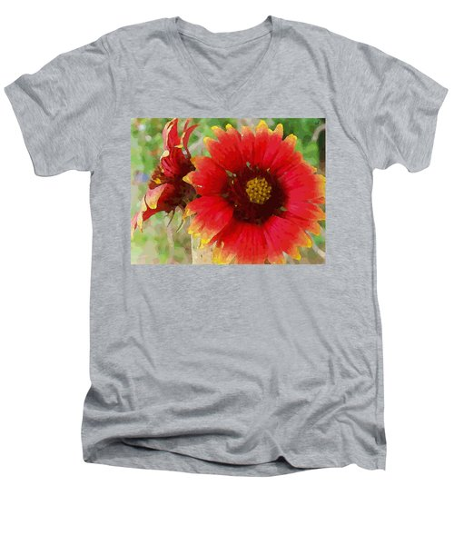 Indian Blanket Flowers Men's V-Neck T-Shirt