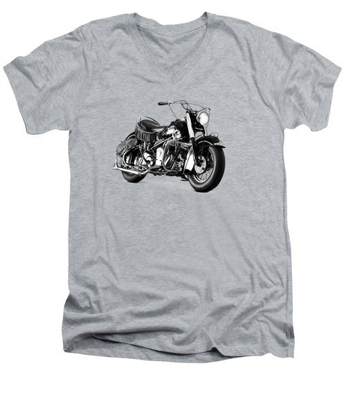 Indian Chief Roadmaster 1953 Men's V-Neck T-Shirt