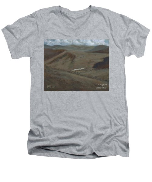 Indian Lodge - A View From The Top Ft. Davis, Tx Men's V-Neck T-Shirt