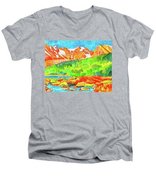 Indian Peaks Wilderness Men's V-Neck T-Shirt