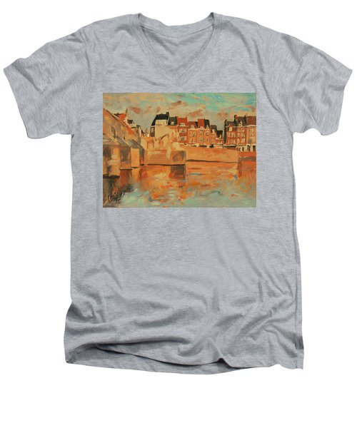 Indian Summer Sunday Sunset Men's V-Neck T-Shirt