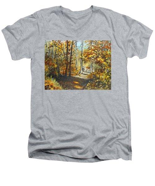 Indian Summer Trail Men's V-Neck T-Shirt