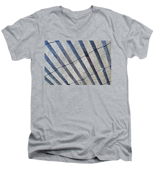 Indiana Dunes Beach Fence Men's V-Neck T-Shirt