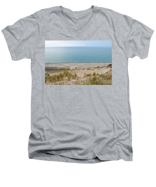 Indiana Dunes National Lakeshore Evening Men's V-Neck T-Shirt