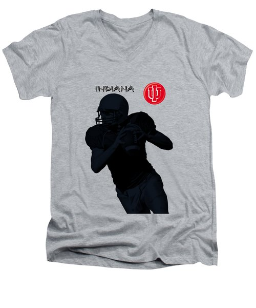 Indiana Football Men's V-Neck T-Shirt