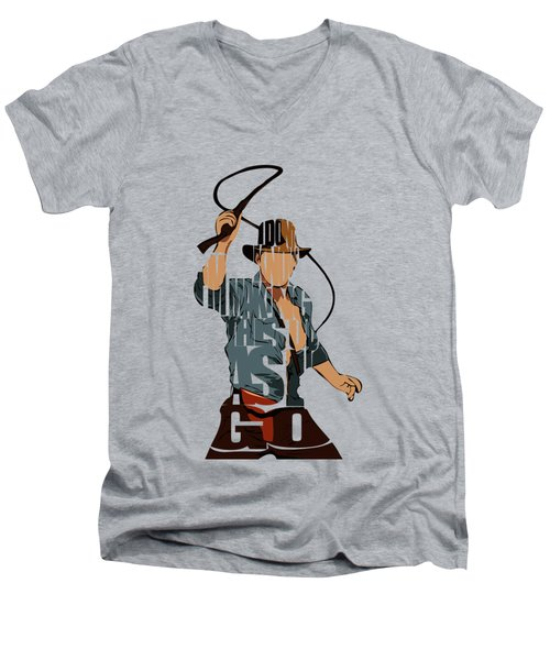 Indiana Jones - Harrison Ford Men's V-Neck T-Shirt