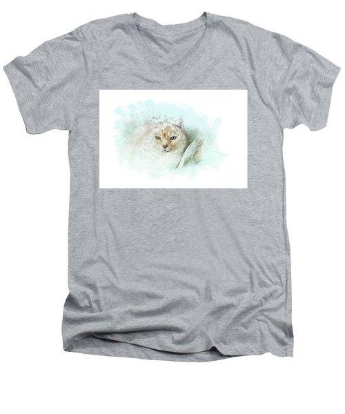 Indigo Men's V-Neck T-Shirt
