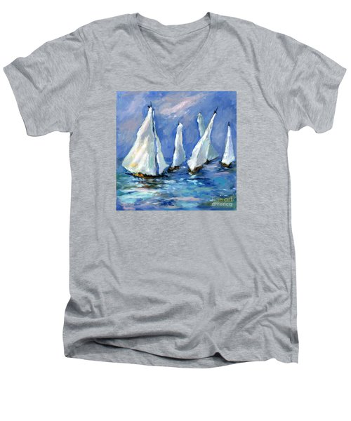 Indigo Seas Men's V-Neck T-Shirt