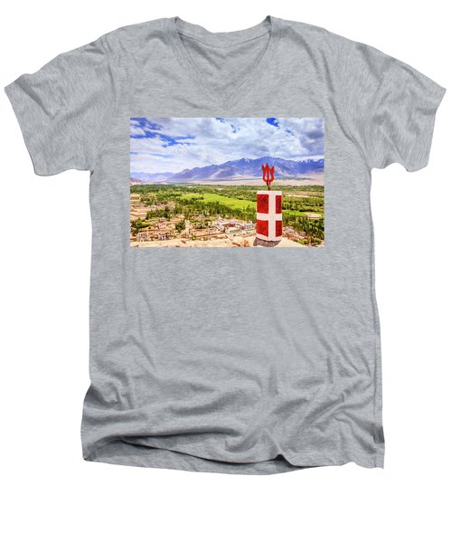 Men's V-Neck T-Shirt featuring the photograph Indus Valley by Alexey Stiop