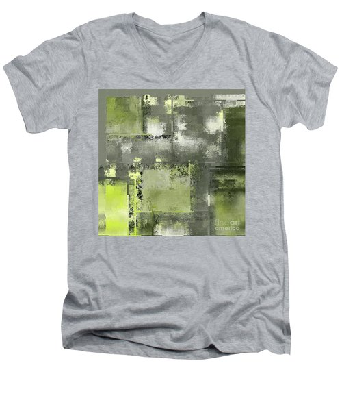 Industrial Abstract - 11t Men's V-Neck T-Shirt by Variance Collections