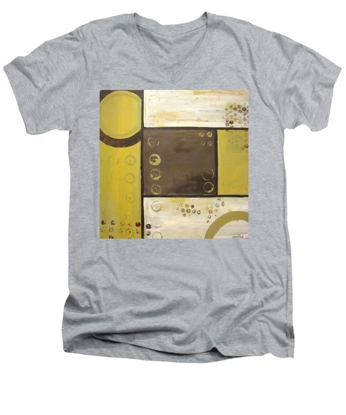 Industrial Circles No.2 Men's V-Neck T-Shirt by Steven R Plout