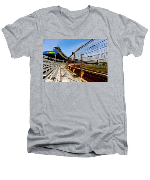 Indy  Indianapolis Motor Speedway Men's V-Neck T-Shirt by Iconic Images Art Gallery David Pucciarelli