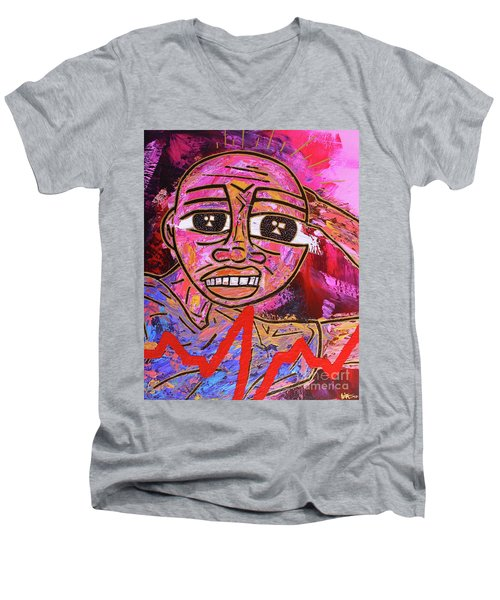 Infatuated Freddy Men's V-Neck T-Shirt